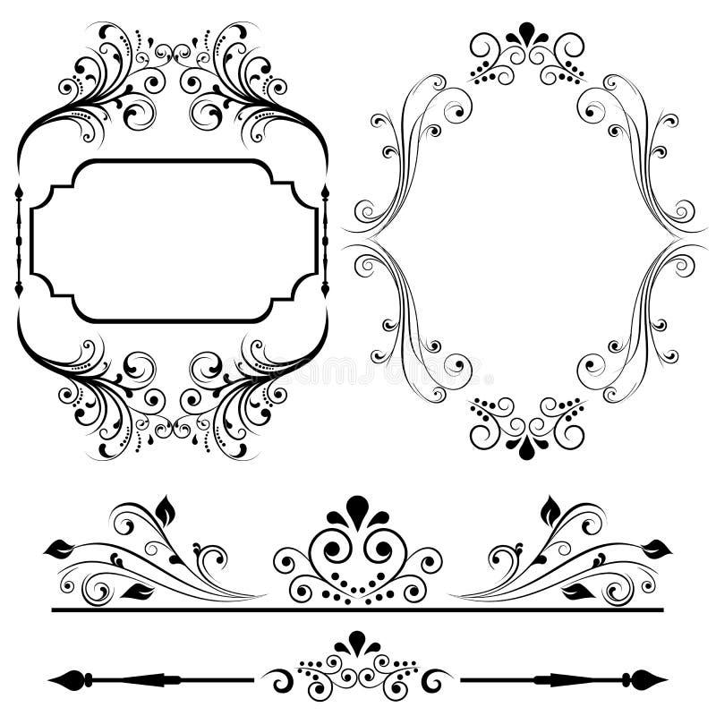 kanten planlägger ramen stock illustrationer