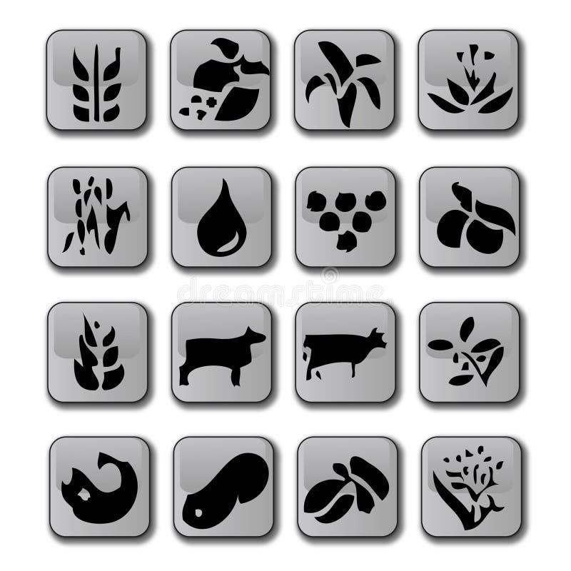 kantjustering som brukar glansiga symboler stock illustrationer