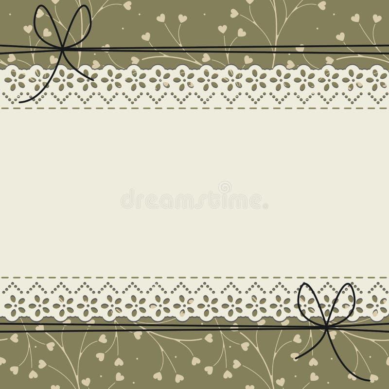 Kantkader met leuk patroon vector illustratie