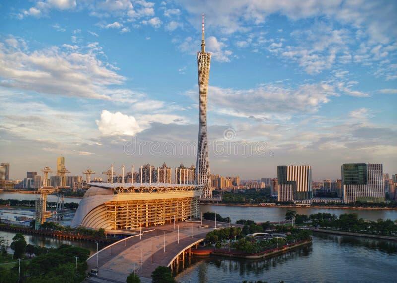Kantontorn i Guangzhou, Kina fotografering för bildbyråer