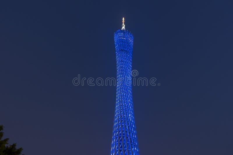 KantonTVtorn i Guangzhou, Kina fotografering för bildbyråer