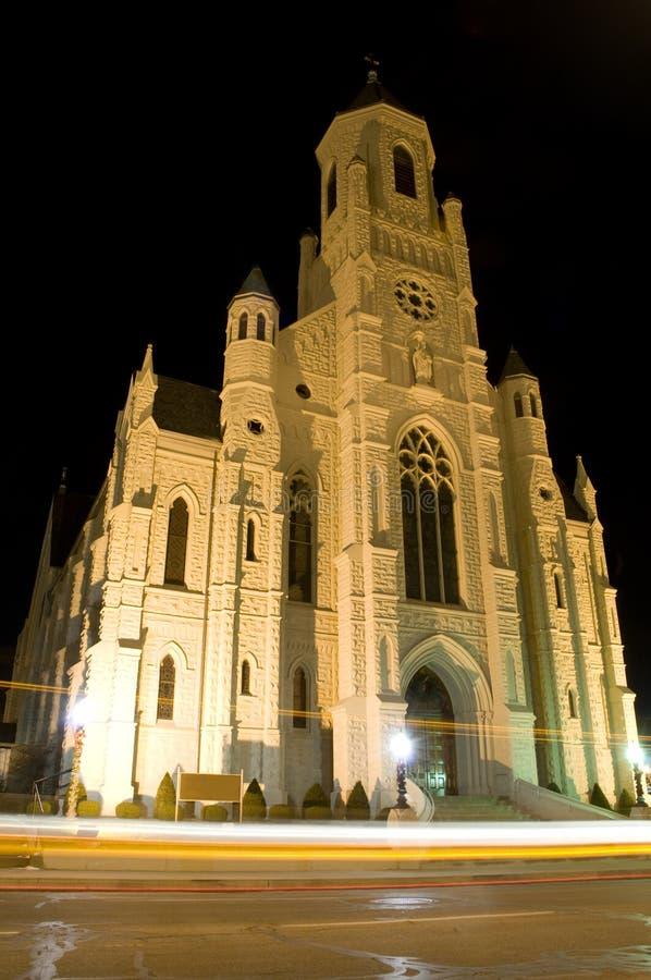 kantonu kościół noc obrazy stock