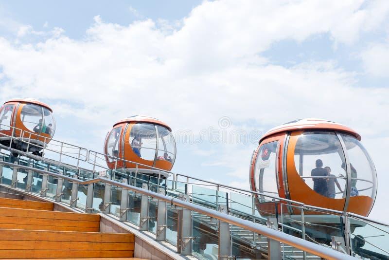 Kantonu wierza bąbla tramwaj, Guangzhou obrazy royalty free