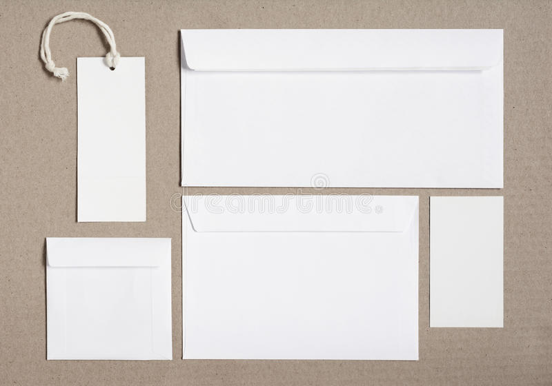 Kantoorbehoeften brandmerkend model voor identiteitsontwerpen royalty-vrije stock fotografie