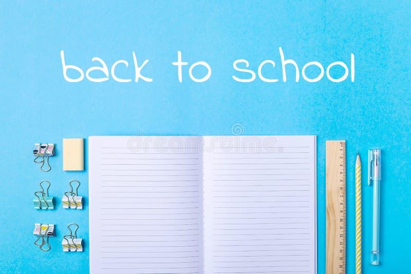 Kantoorbehoeften voor school - 1 het concept van September royalty-vrije stock afbeeldingen