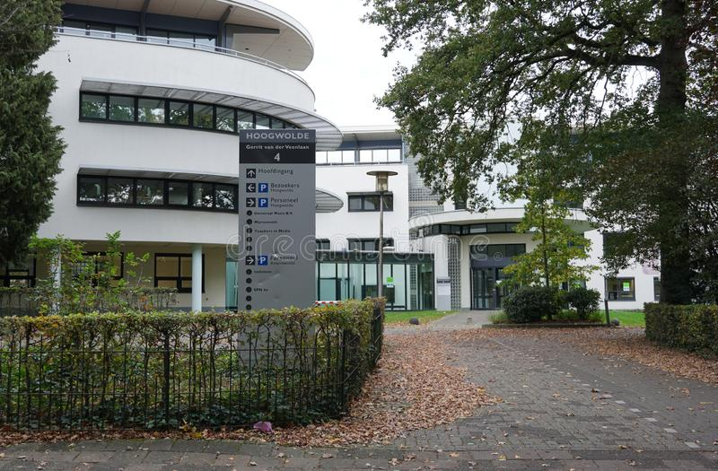 Kantoorgebouw in Baarn in Nederland royalty-vrije stock foto's