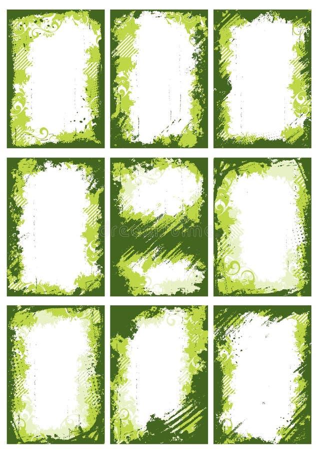 kantramgreen royaltyfri illustrationer