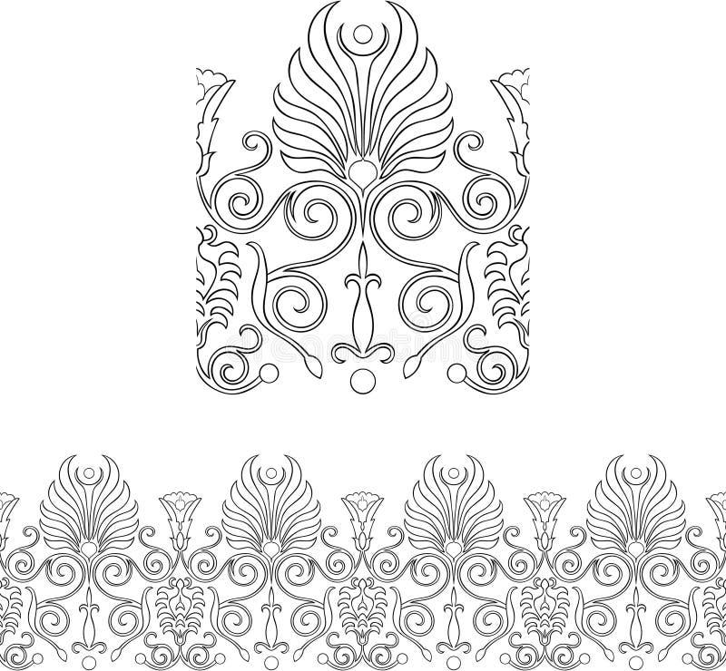 kantstilvictorian vektor illustrationer
