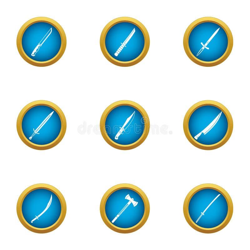 Kantsymbolsuppsättning, lägenhetstil royaltyfri illustrationer