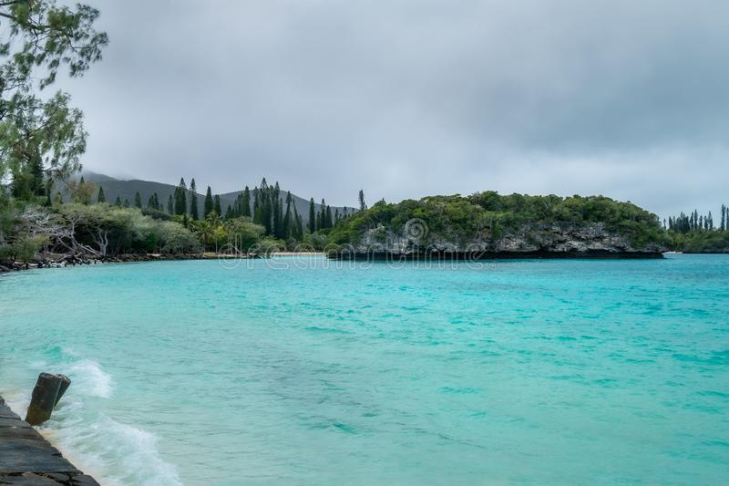 Kanumera Bay View at Isle of pines in New Caledonia. royalty free stock images