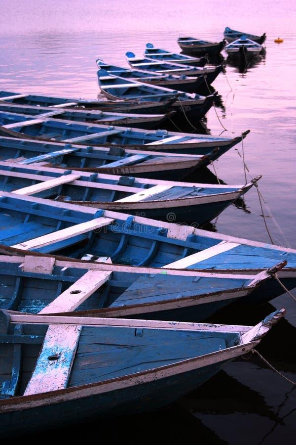 Kanus in Amazonas-Gebiet stockfotografie