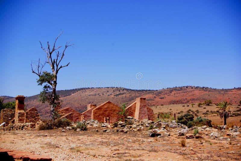 Kanyaka Gehöft-Ruinen stockfotos