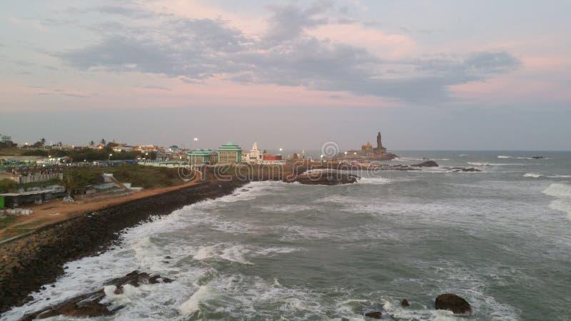 Kanyakumari, miasteczko przybrzeżne w południowym wybrzeżu India obrazy royalty free