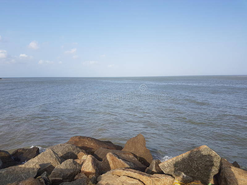 Kanyakumari Sea Shore royalty free stock images