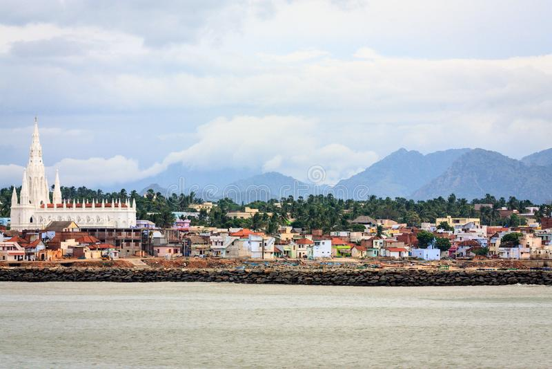 Kanyakumari stad, Tamil Nadu arkivfoton