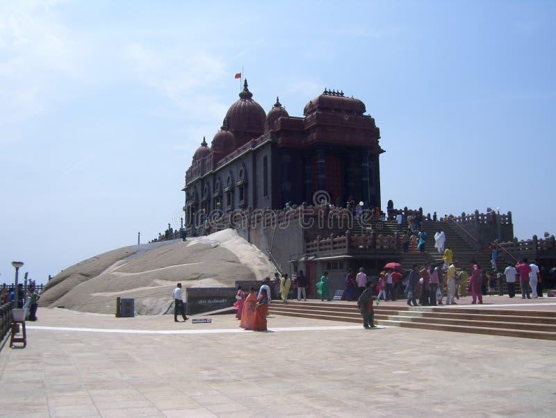 Kanyakumari, Tamil Nadu, India - 7 ottobre 2008 monumento del memoriale della roccia di Vivekananda fotografie stock