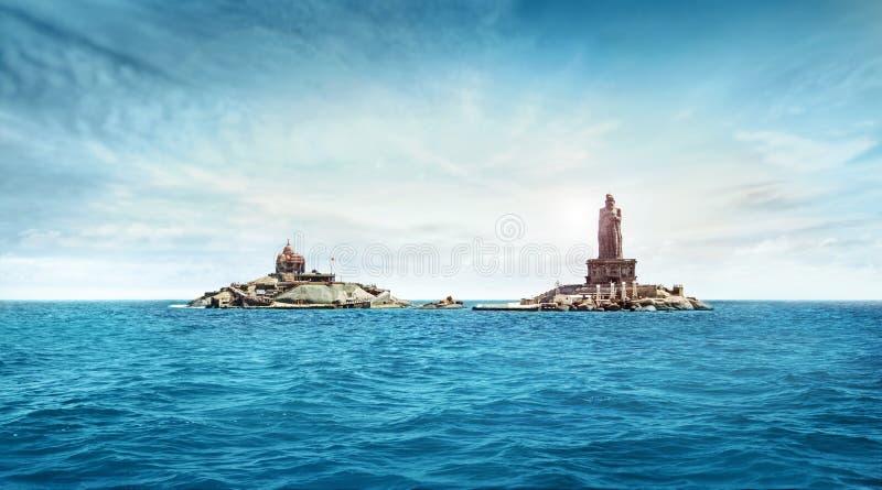 Kanyakumari, tamilnadu, Inde, bord de la mer photographie stock
