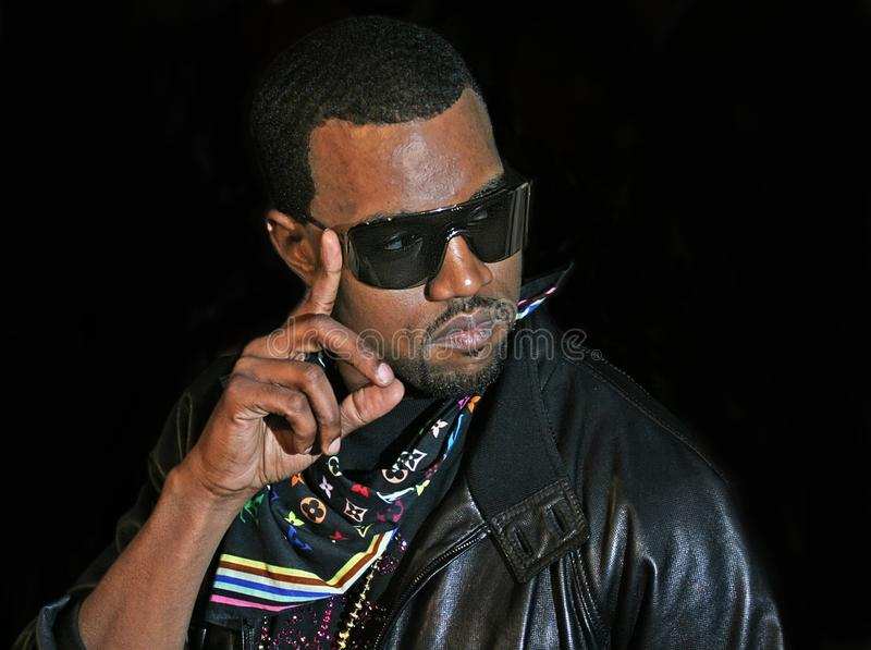 Kanye West. Arrives at the Ziegfeld Theatre for the New York City premiere iof `Mission Impossible 3` on May 2, 2006. The event was one of the highlights of the stock photo