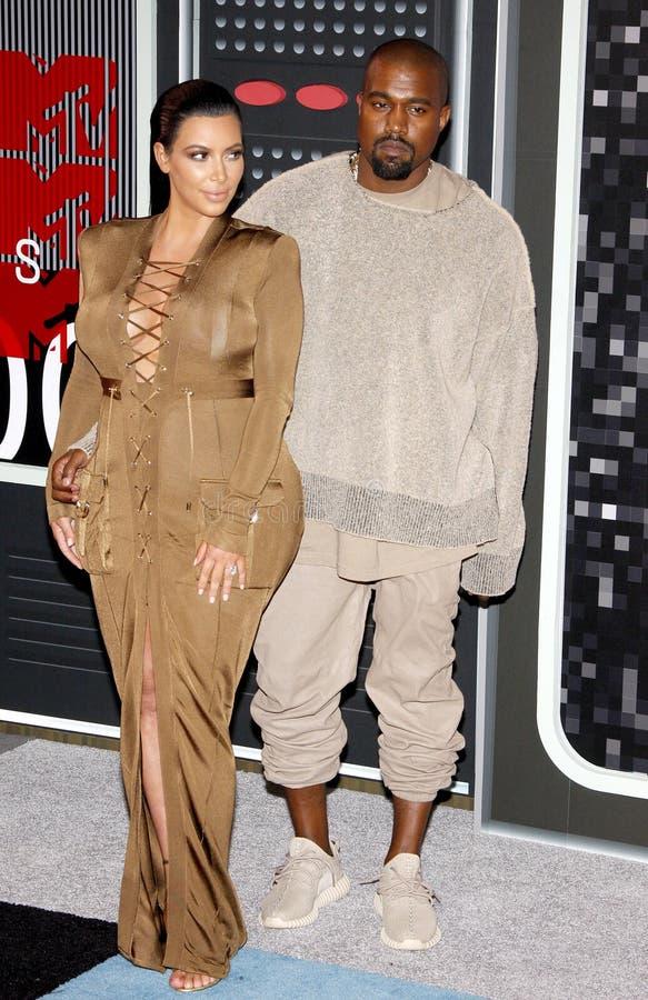 Kanye West e Kim Kardashian imagem de stock royalty free