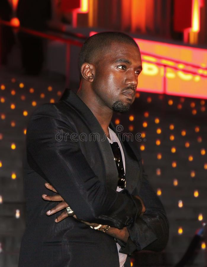 Kanye West. Musician, singer, rapper, poet, and no stranger to controversy, Kanye West, arrives at the Vanity Fair Party for the 8th Annual Tribeca Film Festival royalty free stock photography