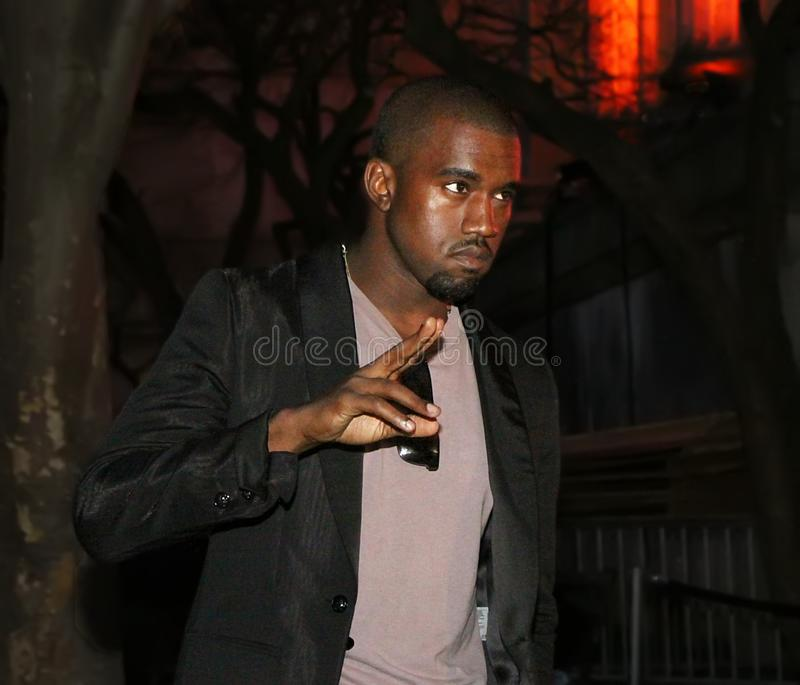 Kanye West. Musician, singer, rapper, poet, and no stranger to controversy, Kanye West, arrives at the Vanity Fair Party for the 8th Annual Tribeca Film Festival royalty free stock images