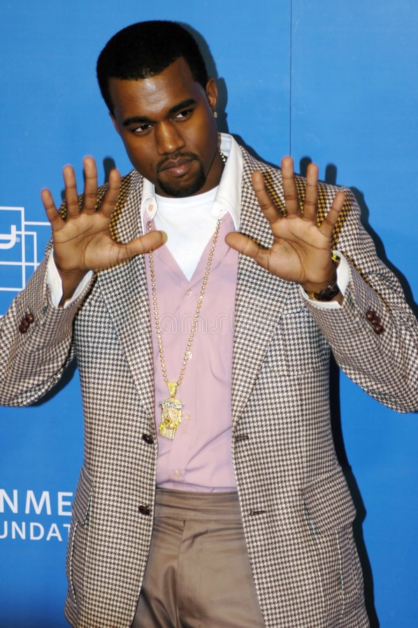 Kanye West no tapete vermelho imagem de stock royalty free