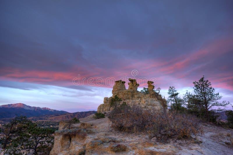 Kanzel-Felsen in Colorado Springs lizenzfreies stockbild