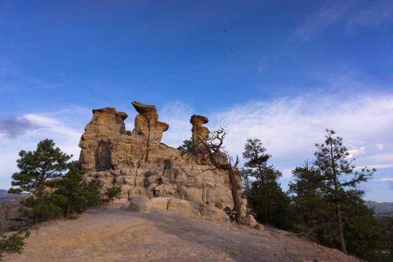 Kanzel-Felsen in Colorado Springs, Colorado lizenzfreie stockfotos