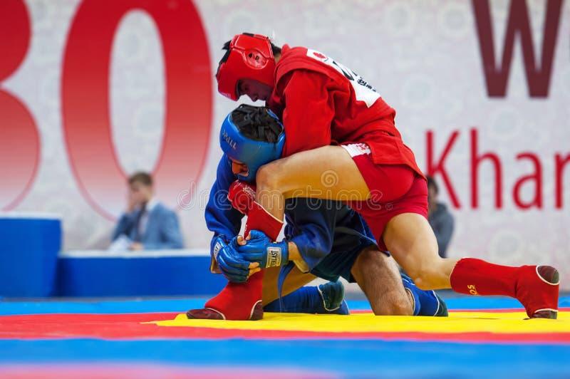 Kanzhanov B (r) contro Umbayev N (B) immagine stock