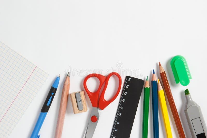 Kanzleigericht für Schule auf einem weißen Hintergrund stockbild