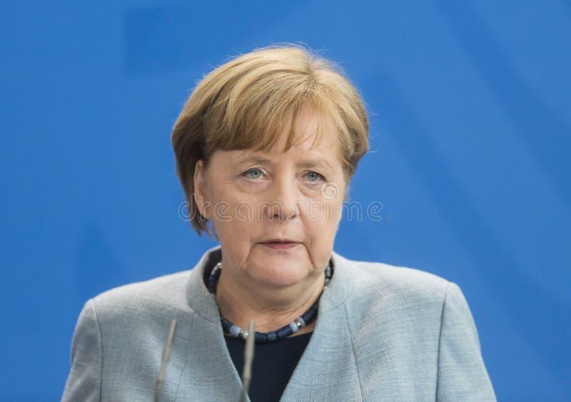 Kanzler der Bundesrepublik Deutschland Angela Merkel stockbilder