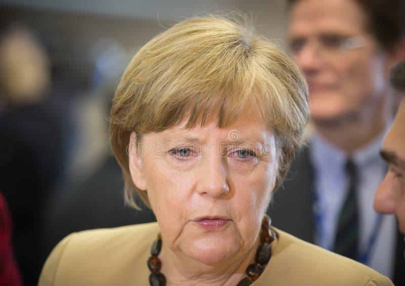 Kanzler der Bundesrepublik Deutschland Angela Merkel lizenzfreies stockbild
