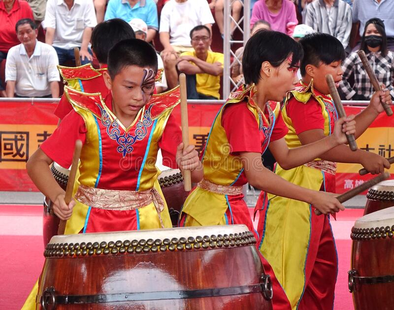Taiwan Student Percussion Group royalty free stock photos