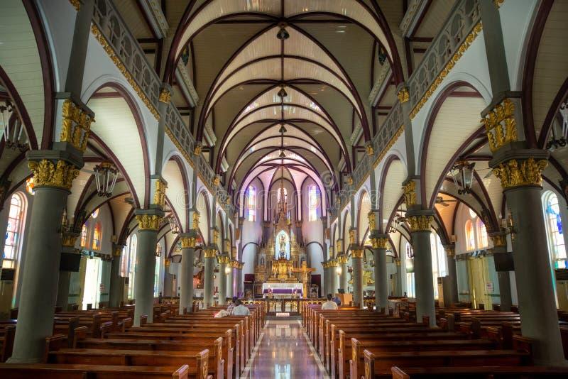 Kaohsiung/Taiwan-18 05 2018: Wśrodku Świętej Różańcowej katedry w Kaohsiung zdjęcie stock
