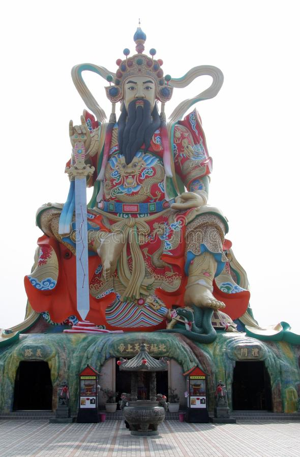 Kaohsiung Taoist God. Taoist god Xuan Tian Shang Di at Lotus Pond in Kaohsiung Taiwan stock photography