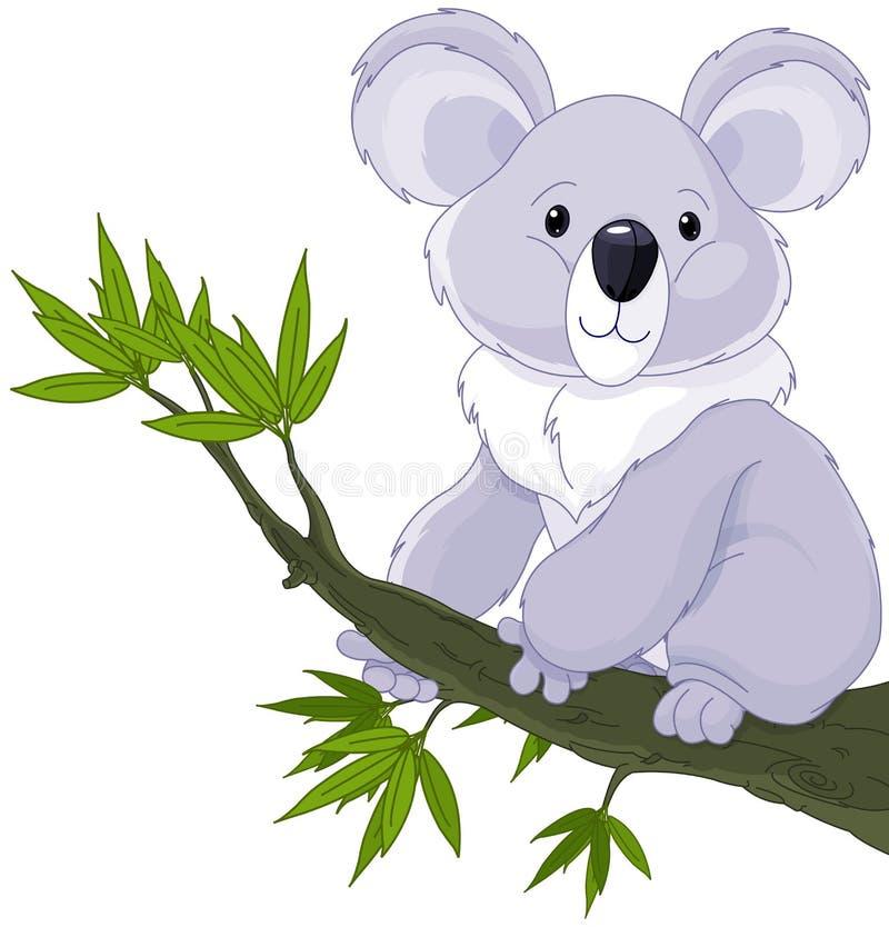 Kaola stand auf einem Baum still stock abbildung