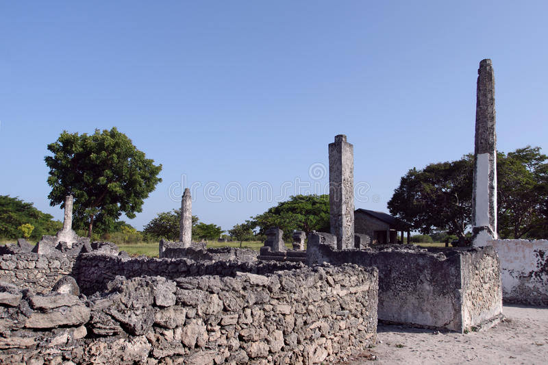 Kaole ruiny blisko Bagamoyo miasteczka (Tanzania) zdjęcie stock