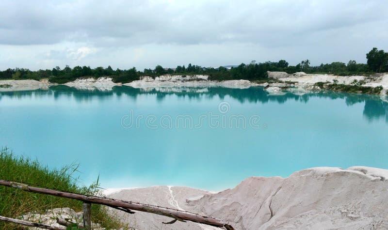 Kaolin jezioro zdjęcie royalty free