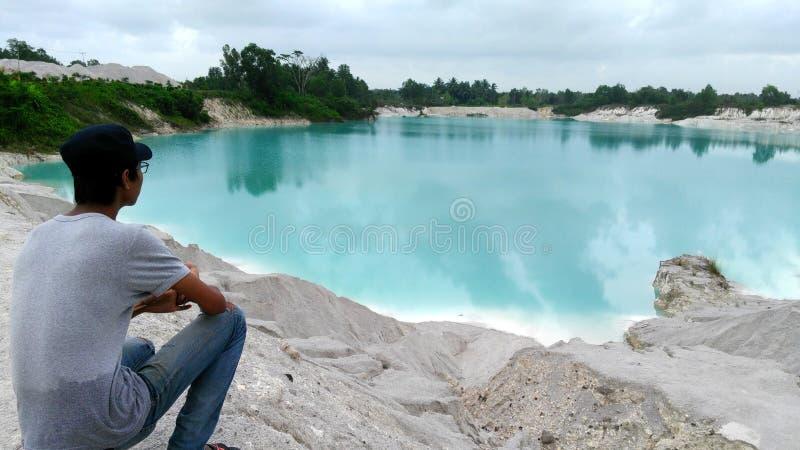 Kaolin jezioro obrazy royalty free