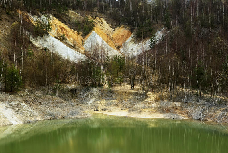 Kaolin Mine. View of the old kaolin mine stock photos