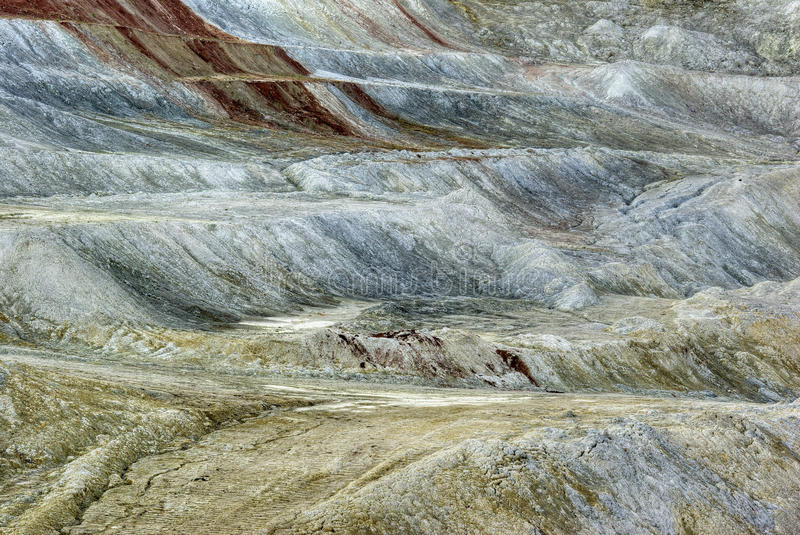 Kaolin Mine. View of the kaolin mine at sunset stock photography