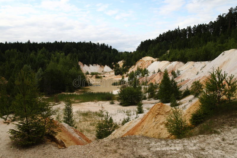 Kaolin mine stock photo