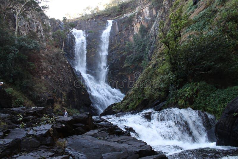 Kaombe flod Zambia royaltyfri bild