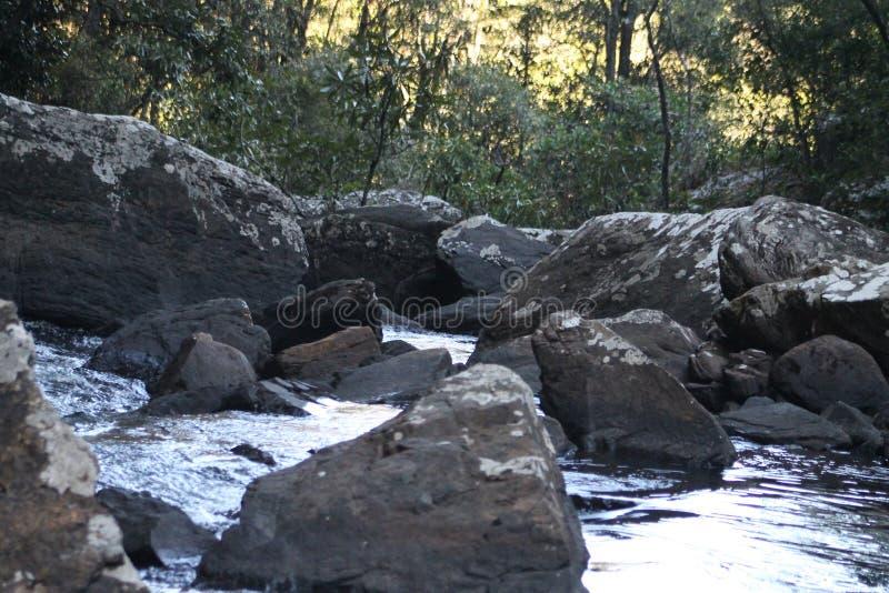 Kaombe flod Zambia arkivfoto