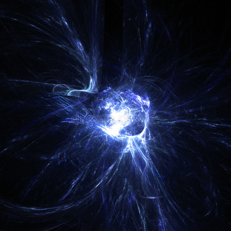 kaosstråle vektor illustrationer