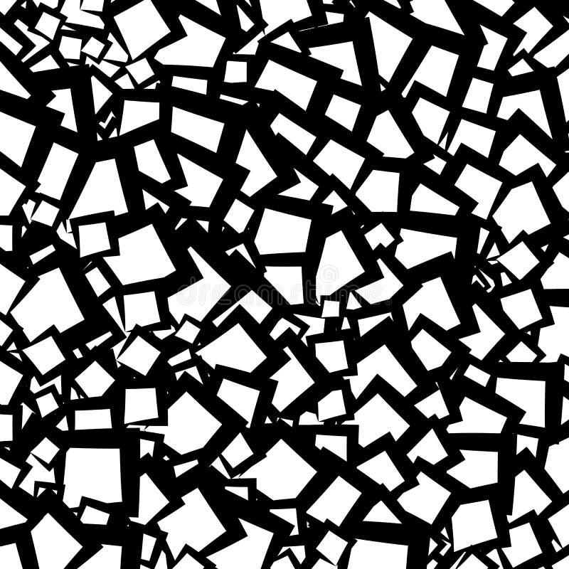 Kaotisk geometrisk textur/modell med slumpmässiga lättretliga former royaltyfri illustrationer