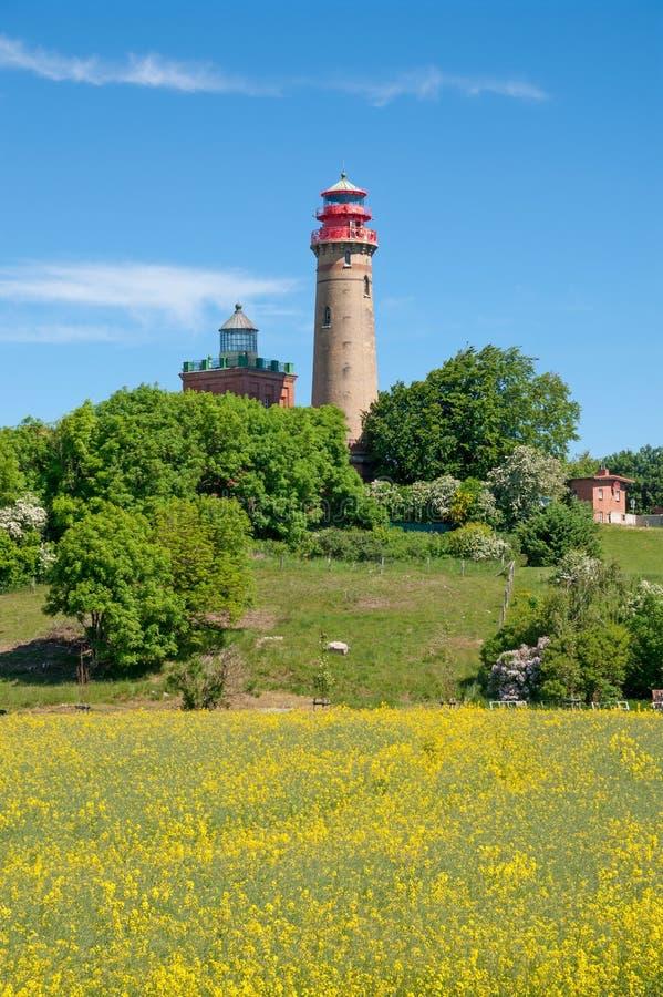 Kap Arkona, Ruegen ö, baltiskt hav, Tyskland royaltyfri fotografi