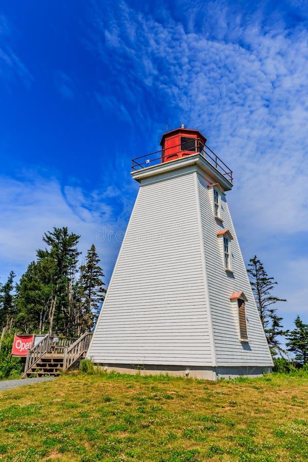 Kap-Bärn-Leuchtturm, PEI, Kanada lizenzfreies stockfoto