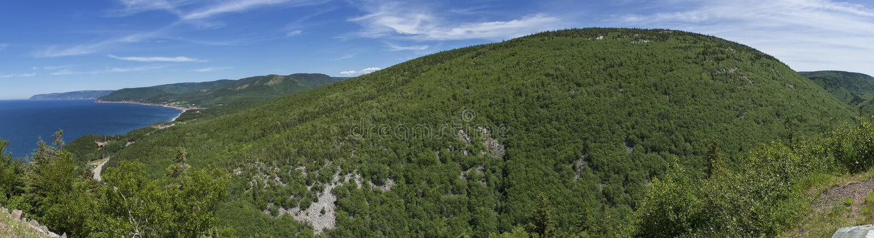 Kap-Breton-Insel/Cabot Trail Panoramic lizenzfreies stockbild