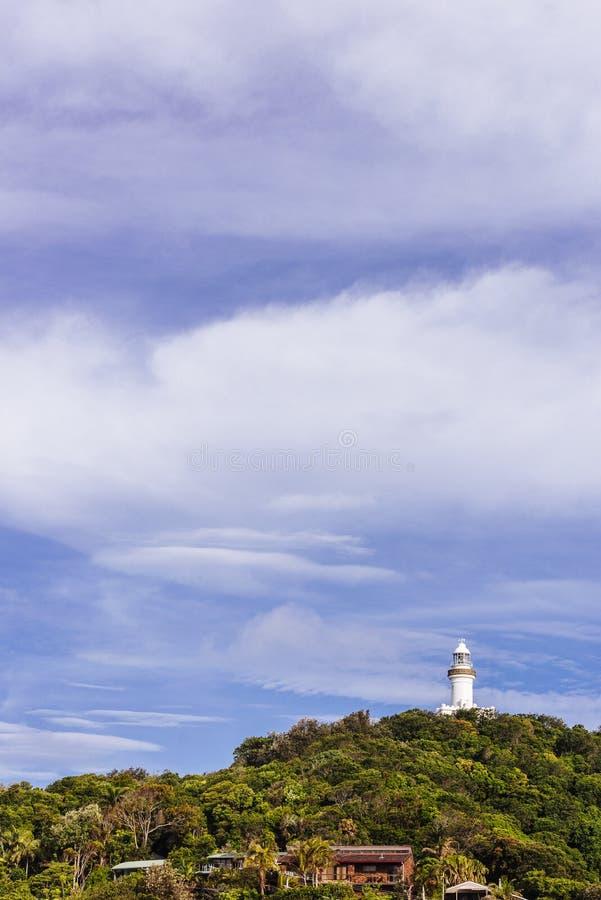 Kap Byron Lighthouse, Byron Bay stockbilder